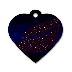 Contigender Flags Star Polka Space Blue Sky Black Brown Dog Tag Heart (one Side) by Mariart