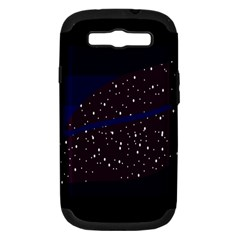 Contigender Flags Star Polka Space Blue Sky Black Brown Samsung Galaxy S Iii Hardshell Case (pc+silicone) by Mariart