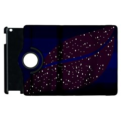 Contigender Flags Star Polka Space Blue Sky Black Brown Apple Ipad 3/4 Flip 360 Case by Mariart