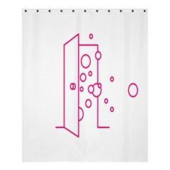 Deep Clean Bubbel Door Pink Polka Circle Shower Curtain 60  X 72  (medium)  by Mariart