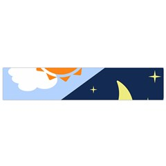 Day Night Moon Stars Cloud Stars Flano Scarf (small) by Mariart