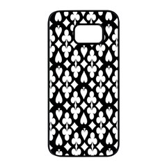 Dark Horse Playing Card Black White Samsung Galaxy S7 edge Black Seamless Case by Mariart