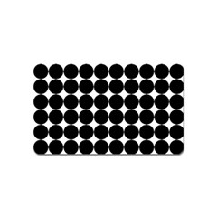 Dotted Pattern Png Dots Square Grid Abuse Black Magnet (name Card) by Mariart