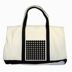 Dotted Pattern Png Dots Square Grid Abuse Black Two Tone Tote Bag by Mariart