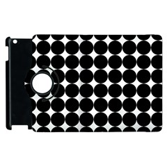 Dotted Pattern Png Dots Square Grid Abuse Black Apple Ipad 3/4 Flip 360 Case by Mariart