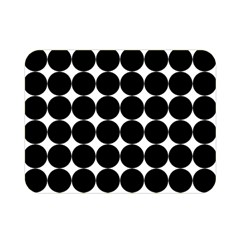 Dotted Pattern Png Dots Square Grid Abuse Black Double Sided Flano Blanket (mini)  by Mariart