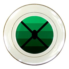 Fascigender Flags Line Green Black Hole Polka Porcelain Plates by Mariart