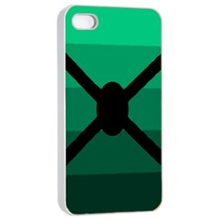Fascigender Flags Line Green Black Hole Polka Apple Iphone 4/4s Seamless Case (white) by Mariart