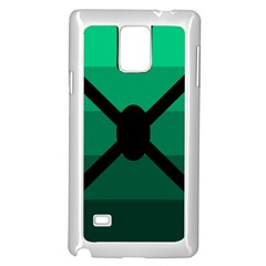 Fascigender Flags Line Green Black Hole Polka Samsung Galaxy Note 4 Case (white) by Mariart