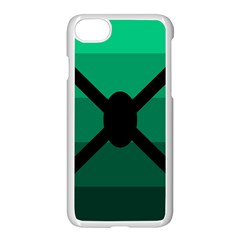 Fascigender Flags Line Green Black Hole Polka Apple Iphone 7 Seamless Case (white) by Mariart