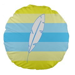 Feather Flags Large 18  Premium Flano Round Cushions by Mariart