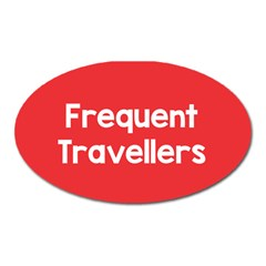 Frequent Travellers Red Oval Magnet by Mariart