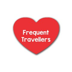 Frequent Travellers Red Heart Coaster (4 Pack)  by Mariart