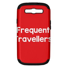 Frequent Travellers Red Samsung Galaxy S Iii Hardshell Case (pc+silicone) by Mariart