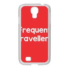 Frequent Travellers Red Samsung Galaxy S4 I9500/ I9505 Case (white) by Mariart