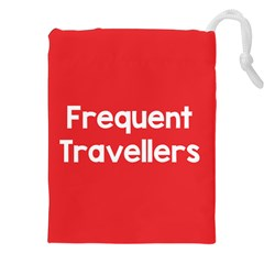 Frequent Travellers Red Drawstring Pouches (xxl) by Mariart