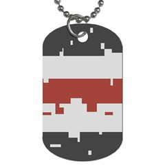 Girl Flags Plaid Red Black Dog Tag (two Sides) by Mariart