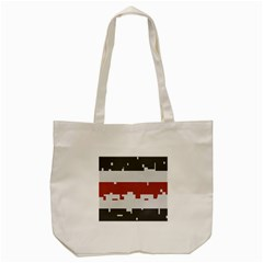 Girl Flags Plaid Red Black Tote Bag (cream) by Mariart