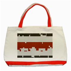 Girl Flags Plaid Red Black Classic Tote Bag (red) by Mariart