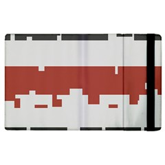 Girl Flags Plaid Red Black Apple Ipad 3/4 Flip Case by Mariart