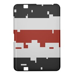 Girl Flags Plaid Red Black Kindle Fire Hd 8 9  by Mariart