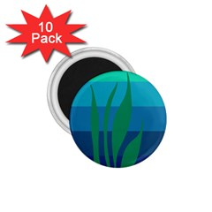 Gender Sea Flags Leaf 1 75  Magnets (10 Pack)  by Mariart