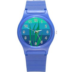 Gender Sea Flags Leaf Round Plastic Sport Watch (s) by Mariart