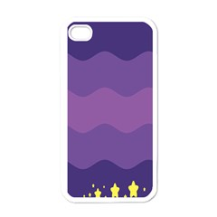 Glimragender Flags Wave Waves Chevron Purple Blue Star Yellow Space Apple Iphone 4 Case (white) by Mariart