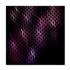 Light Lines Purple Black Tile Coasters by Mariart