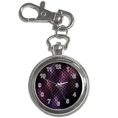 Light Lines Purple Black Key Chain Watches by Mariart