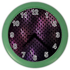 Light Lines Purple Black Color Wall Clocks by Mariart