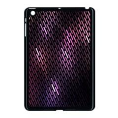 Light Lines Purple Black Apple Ipad Mini Case (black) by Mariart