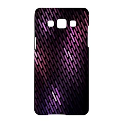 Light Lines Purple Black Samsung Galaxy A5 Hardshell Case  by Mariart