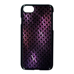 Light Lines Purple Black Apple Iphone 7 Seamless Case (black) by Mariart