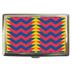 Lllustration Geometric Red Blue Yellow Chevron Wave Line Cigarette Money Cases by Mariart