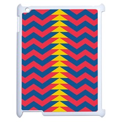 Lllustration Geometric Red Blue Yellow Chevron Wave Line Apple Ipad 2 Case (white) by Mariart