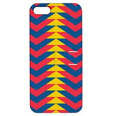 Lllustration Geometric Red Blue Yellow Chevron Wave Line Apple Iphone 5 Hardshell Case With Stand by Mariart