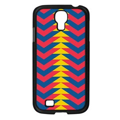 Lllustration Geometric Red Blue Yellow Chevron Wave Line Samsung Galaxy S4 I9500/ I9505 Case (black) by Mariart