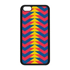 Lllustration Geometric Red Blue Yellow Chevron Wave Line Apple Iphone 5c Seamless Case (black) by Mariart