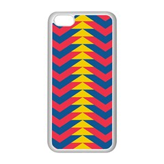 Lllustration Geometric Red Blue Yellow Chevron Wave Line Apple Iphone 5c Seamless Case (white) by Mariart
