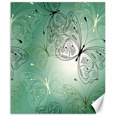 Glass Splashback Abstract Pattern Butterfly Canvas 20  X 24   by Mariart