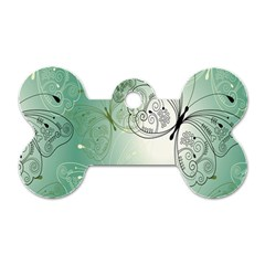 Glass Splashback Abstract Pattern Butterfly Dog Tag Bone (two Sides) by Mariart