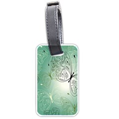 Glass Splashback Abstract Pattern Butterfly Luggage Tags (two Sides) by Mariart