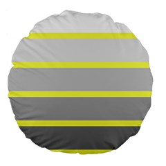 Molly Gender Line Flag Yellow Grey Large 18  Premium Flano Round Cushions by Mariart