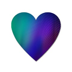 Galaxy Blue Purple Heart Magnet by Mariart