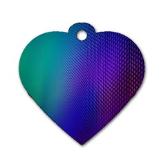 Galaxy Blue Purple Dog Tag Heart (one Side) by Mariart