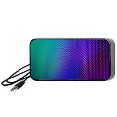 Galaxy Blue Purple Portable Speaker (black) by Mariart