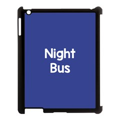 Night Bus New Blue Apple Ipad 3/4 Case (black) by Mariart