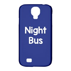 Night Bus New Blue Samsung Galaxy S4 Classic Hardshell Case (pc+silicone) by Mariart