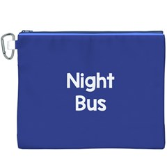 Night Bus New Blue Canvas Cosmetic Bag (xxxl) by Mariart